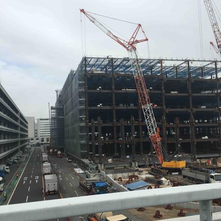大型物流センター新築工事外観