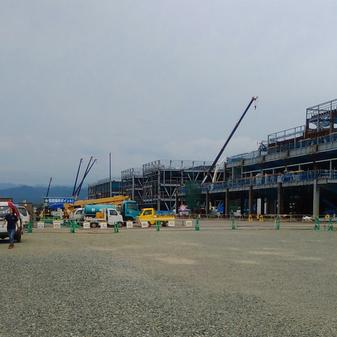 ショッピングセンター新築工事外観